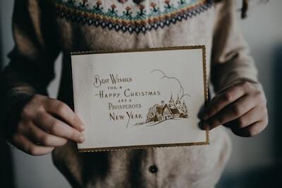 クリスマスメッセージカード