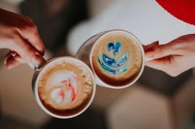 コーヒーでの乾杯