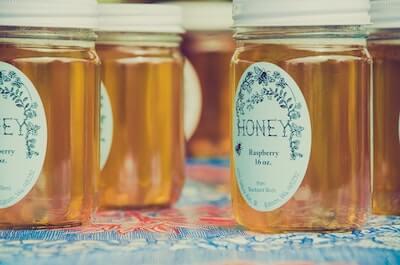 瓶に入った蜂蜜