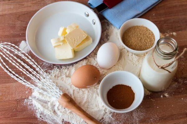 卵と小麦粉とバター