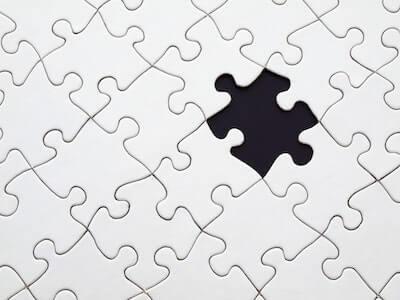 白黒のジグソーパズル