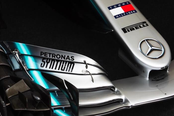 メルセデスF1のフロントノーズ