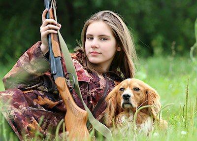 飼い主と猟犬