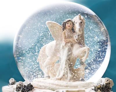 雪の妖精のイメージ