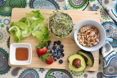 ブロッコリースプラウトと他の食材