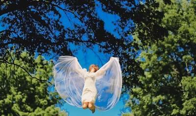 天使のような女性の写真