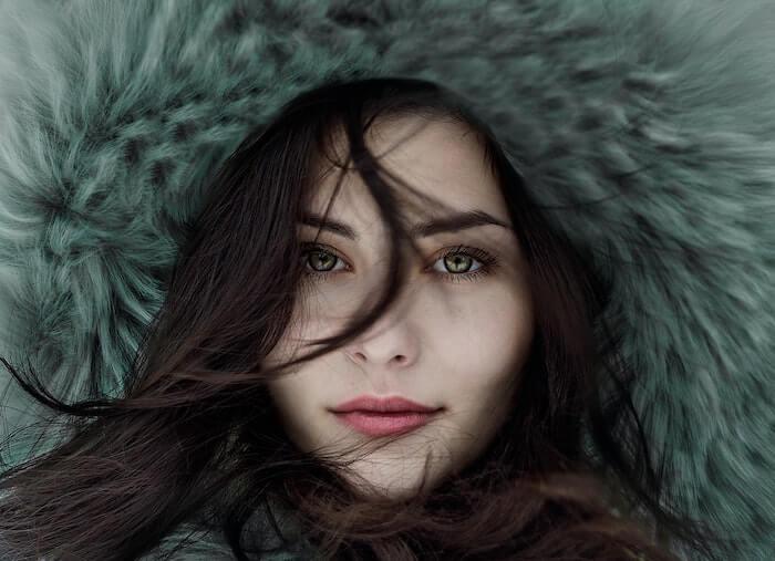 綺麗な女性の表情