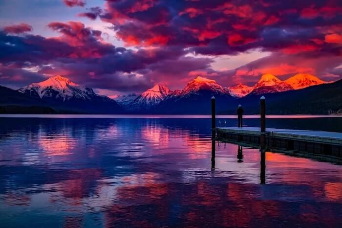 夕焼けの美しい景色