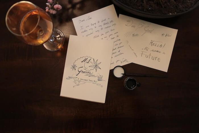 手書きのメッセージカード