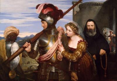 中世の騎士の絵