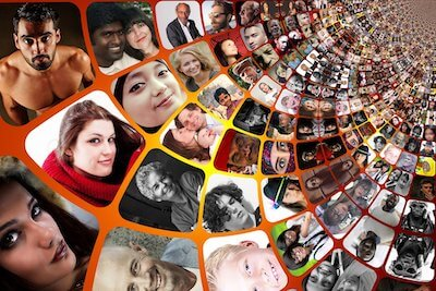 世界の人々の顔写真
