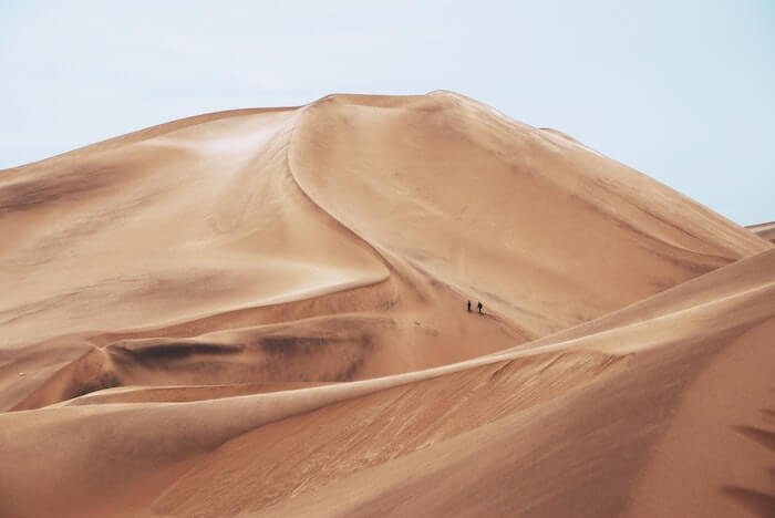 砂漠の大地