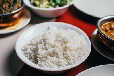 インディカ米とカレー